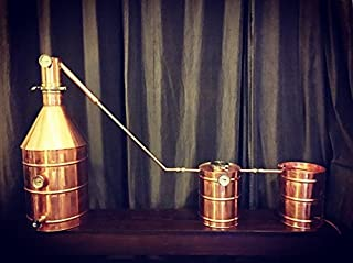 Stampede Stills UPGRADED 15 Gallon Copper Moonshine Still + 5 gallon thumper + 5 gallon worm