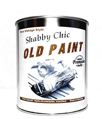 """1Kg. Kreidefarbe ABWISCHFEST Shabby Chic Farbe:\""""Old Paint\"""" weiß und Farbig Lack Chalky Paint (Weiß)"""