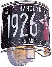 VINTAGE wandlamp USA nummerplaat verlichting Monroe decoratieve lamp Globo 15396W1