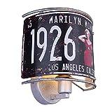 Lámpara de pared con decoración: 1 Monroe hacia arriba, color plateado...