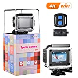 4K Action Kamera, VTIN WiFi Sports cam 16MP Ultra Full HD Unterwasserkamera Helmkamera 2' LCD mit...