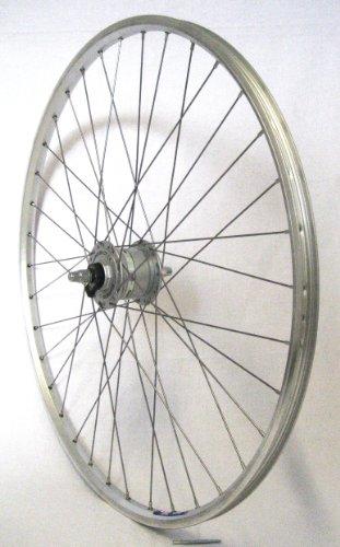 28 Zoll Fahrrad Laufrad Vorderrad Hohlkammerfelge Cut 19 Shimano Nabendynamo DH3N31 Silber für V-Brakes/Felgenbremse