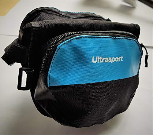 Summary Ultrasport fietstas met dubbele frametas, blauw, ca. 15 x 12 x 12 cm – waterafstotend – met klittenbandsluiting en twee ritssluitingen.