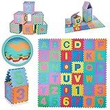 Baby Vivo Puzzle tapis de jeu tapis de sol en mousse alphabet et chiffres bébé enfant jouet éducatif