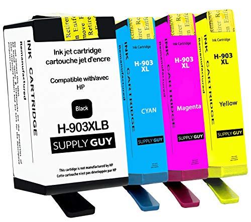 SupplyGuy 4 Cartuchos Compatible con HP 903 XL / 903XL (Chip Marzo de 2021) para OfficeJet 6900 6950 OfficeJet Pro 6860 6868 6950 6960 6968 6970 6975 6978