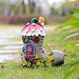 【Solar Light】:The solar panels will be charged during the day and will automatically light up at night. 【Waterproof and Sunscreen】:The garden figurines are hand-made from durable resin materials and have a protective coating, so they will not fade in...