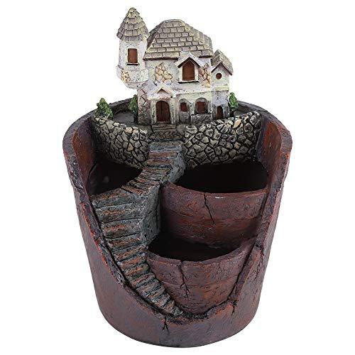 Homeriy Récipient en Forme d'animal en Pot Succulent en Résine Créative Récipient Créatif en Pot Panier de Fleurs à Base de Plantes Décoration de La Maison de Jardinier de Plantation