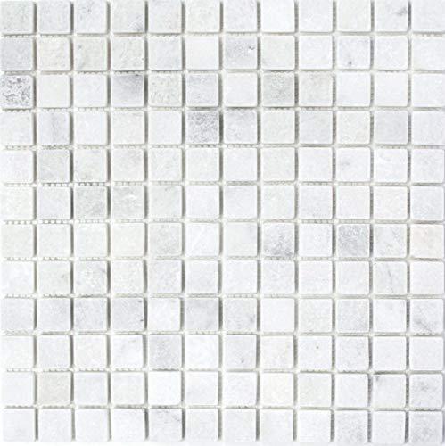 Azulejos de mosaico de mármol blanco Ibiza Antique Marble MOS40-42023