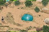 Safari Spielmatte (ähnlich Spielteppich) | SM08 | Hochwertige Spiel-Matte für das Kinder-Zimmer | ideales Zubehör zu Spiel-Figuren von Schleich, Playmobil, Papo, Bullyland & Co | 150 x 100 cm | STIKKIPIX