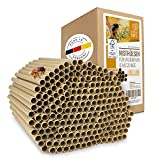 wildtier herz Cuore di Animali Selvatici | 200 Tubi di Nidificazione con Ø 8 mm per api Selvatiche - Tubi di Cartone Ecologici al 100% per Hotel Insetto, Rifugi per Insetti, Casetta per Insetti