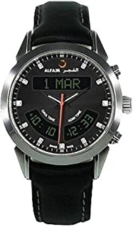 الفجر ساعة سويسرية رسمية رجال، انالوج-رقمي، جلد طبيعي، مينا أسود  WA-10L