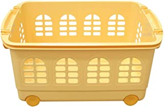 Boîte de rangement XIAOXIAO Panier De Rangement pour Enfants avec Panier De Rangement avec roulettes, Grande en Plastique ...