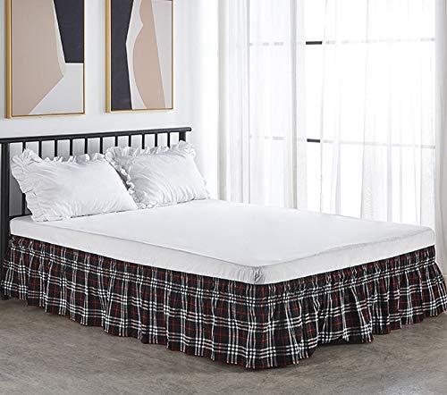 LANG ZI 38cm Falda de Cama,Volantes elástica Falda de Cama Bedding Ruffled Bedskirt Medidas canapé Cubre unda de Somier Faldón de Volantes con (Color : C, Size : 100 * 200cm)