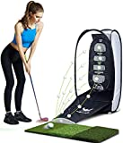 wosofe Golf Hitting Net Indoor Chipping Practice Target Training Aids at Backyard Collapsible