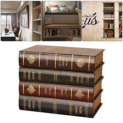 Buch-Box dekorative künstliche Buch-Box Vintage Lagerung Requisiten Buch Schmuck Lagerung Verpackung Studie Buch Falsche Buch Ornamente Holz Antik Buch-Buchstützen Klassisch Dekorative Bibliothek