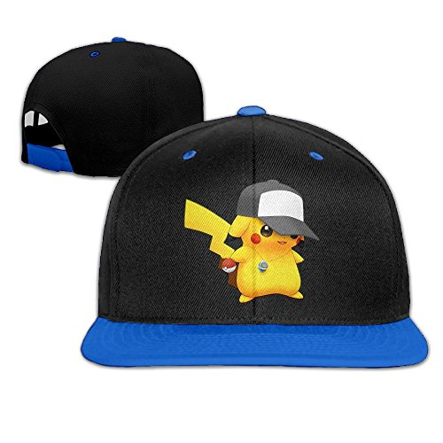 Hittings Pokemon Pikachu Fashion Art Print Trucker Hat Style Red Royalblue