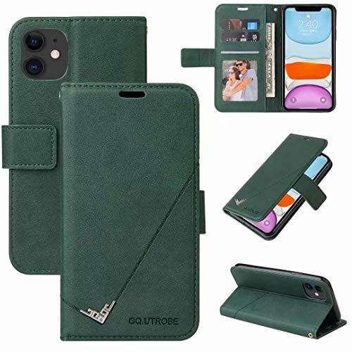 Funda para Samsung Galaxy A02S, de piel sintética a prueba de golpes, con cierre magnético, ranuras para tarjetas, funda de poliuretano termoplástico suave para Samsung Galaxy A02S, color verde
