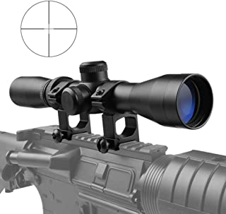 Luger 2-7X32 Long Eye Relief Waterproof Black Matte Rifle Scope with Reticle Tactical Optical Sight