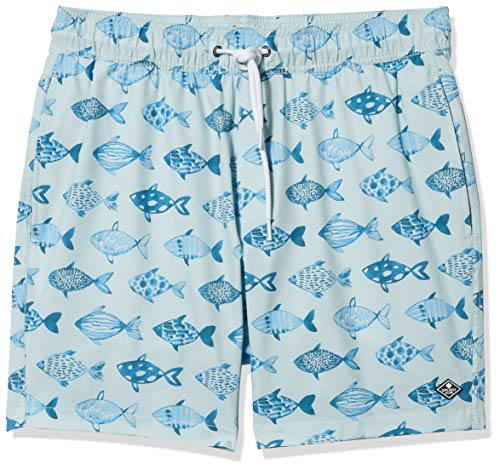 Sperry Top-Sider 7' Stretch Swim Trunks Bañador para Hombre, Pez Azul Claro, S