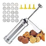 Prensa de cookies Pistola de Prensa de Galletas Pistola para Galletas Cookie Maker Kit Con 20 moldes de disco y 4...
