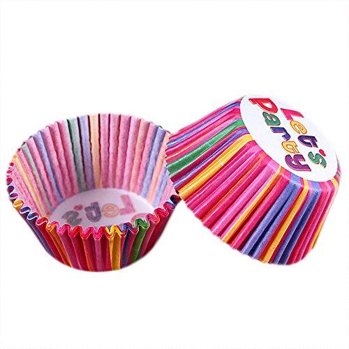 Kentop Lot de 100 emporte-pièces en papier pour cupcakes, muffins, muffins