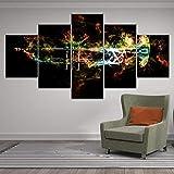 BXZGDJY Musikinstrument Leinwandbilder Wandkunst Hd-Druck