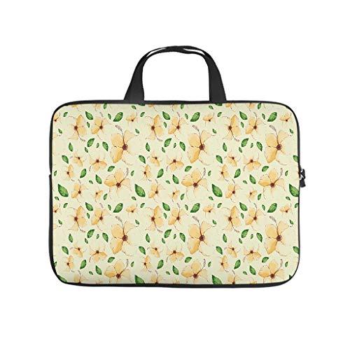 Bolsa para ordenador portátil con flores y plantas, resistente a los arañazos, para el trabajo, el negocio