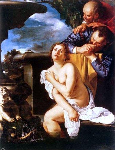 """Artemisia Gentileschi Susanna ei vecchioni - 21"""" x 28"""" Premium Canvas Print"""