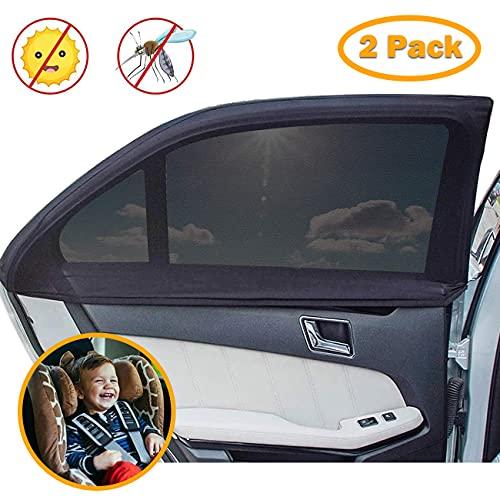 Parasole per Finestrini Laterali Auto, Maysurban 2 Pezzi Parasole Auto Bambini Accessori Auto Block Raggi UV Antizanzara, Protegge Bambini e Animali Domestici