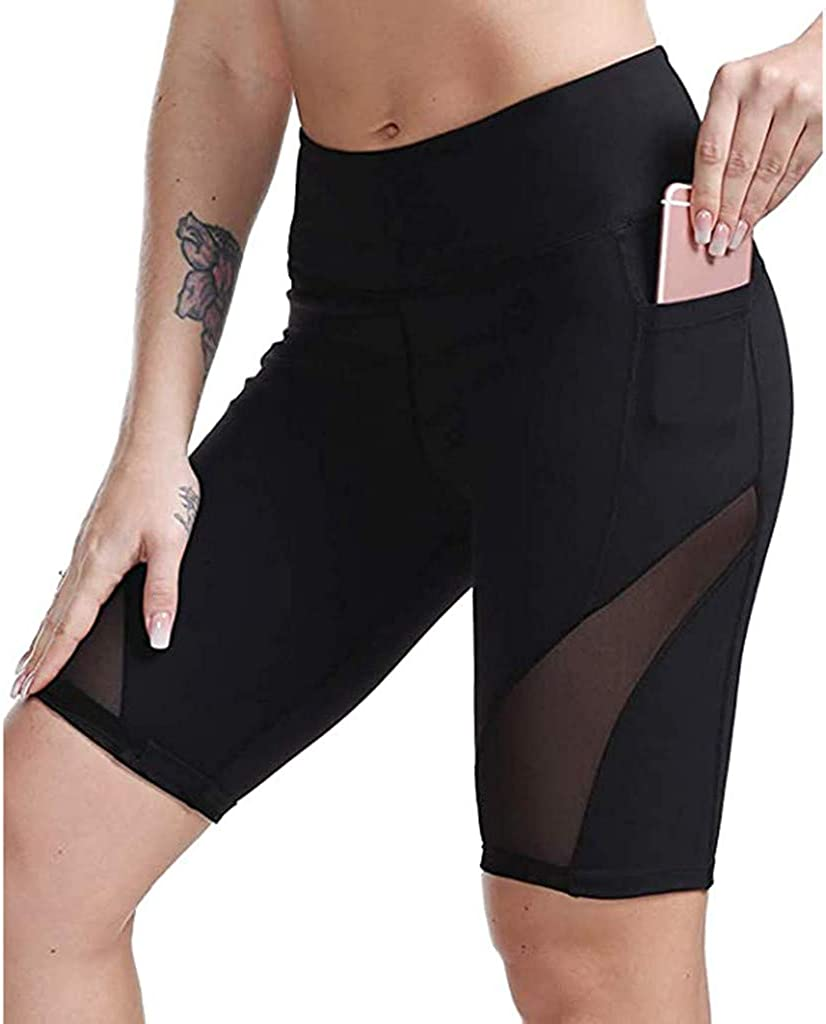 SUNTIN 2021 Womens Shorts Women's High Waist Yoga Short Abdomen Control Training Running Yoga Pants Pants Leggings Trousers