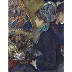 Oil Painting 'Pierre Auguste Renoir At The Theatre (La Premiere Sortie) ' Printing On High Quality Polyster Canvas , 16 X 21 Inch / 41 X 53 Cm ,the Best Laundry Room Decoration And Home Gallery Art And Gifts Is This High Definition Art Decorative Prints