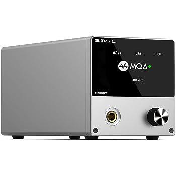 S.M.S.L M500 DAC ヘッドホンアンプ プリアンプ 一体型「ES9038PRO」内蔵/MQA・ハイレゾ・DSD音源対応/高出力電流ヘッドホンアンプ搭載 USB DAC (シルバー)