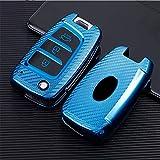 ontto 1 funda para llave de coche con mando a distancia para Hyundai Solaris Elantra i30 i35 i40 Tucson Kona 2015 2016 2017 2018, funda de TPU para llave de coche, color azul