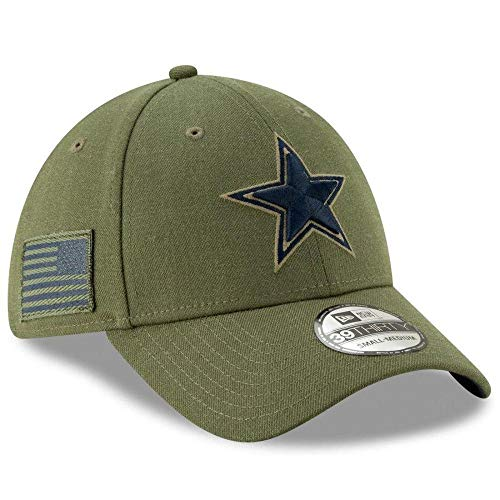 New Era - Gorra de los Dallas Cowboys NFL 2018 Salute To Service 39THIRTY