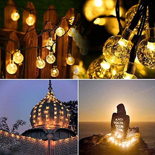 illumafye Solar String Light 30 LED 8 Modes Bubble Ball String Fairy Lights Outdoor Garden Patio Backyard Christmas Party Decoration Solar Lights