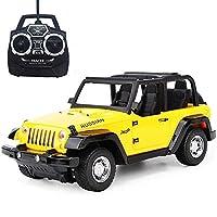 リモートコントロールカー、子供リモートコントロールカー1:22シミュレーションリモートコントロールカーモデルリモコンオフロード車充電レーシングボーイ子供子供男の子の女の子の誕生日(色:赤) (Color : Yellow)