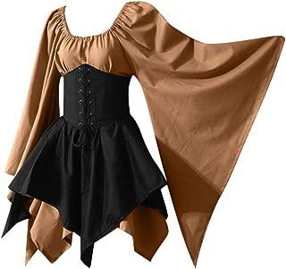 🌟 Sherostore 🌟 Hunter Costume Women Renaissance Vintage Cute Medieval Frill Frock Party Ball Gowns Wedding Dress