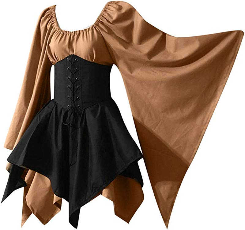 Kiminana Halloween Lady Renaissance Medieval Dress Gown For Everyday Halloween Cosplay Festivals Corset Dress