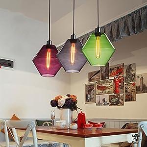SDKKYNew Nordic restaurante bar vintage candelabro de cristal de murano personalidad creativa Cafe simple candelabro Tulipa de 250 * 240mm, transparente