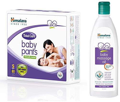 Himalaya Total Care Baby Pants Diapers, Small, 80 Count & Himalaya...