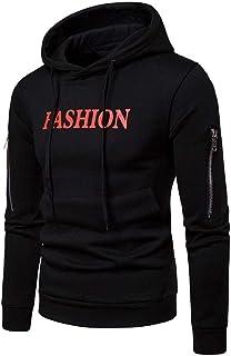 Singleluci Men's Autumn Winter Long Sleeve Pullover Slim Casual Zipper Tops Blouse Coat