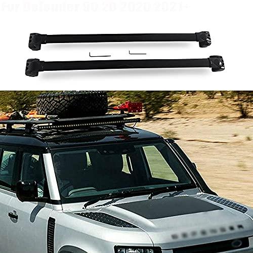2 unids barra cruzada barras de techo para Land Rover Defender 90 2D 2020 2021 2022 equipaje carriles de carga