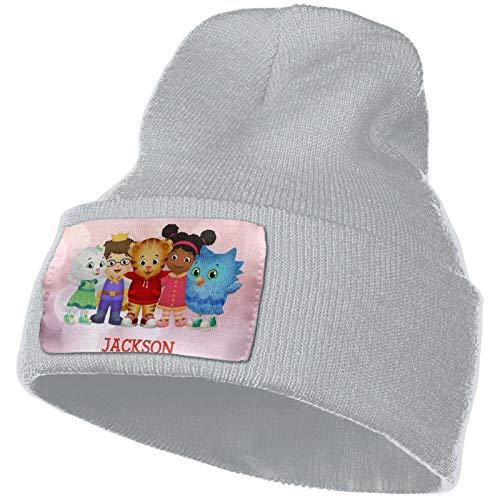 Daniel Tiger's Neighborhood Winter Beanie Hip Hop Hat Crochet Hair Ball Knitted Hat Gray