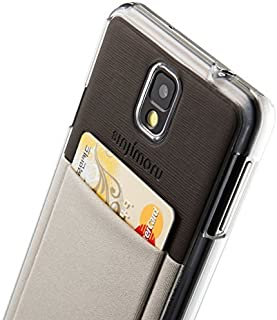 Samsung Galaxy Note 3 Wallet Case with Card Holder, Sinjimoru Transparent Clear Hard Slim Case, Money Clip, Sinji Pouch Case, Grey [並行輸入品]