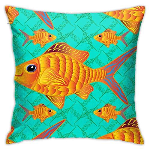 AEMAPE Funda de Almohada con diseño de pez Payaso de Moda, Funda de cojín Cuadrada, sofá para el hogar, Decorativo, 40X40 Cm