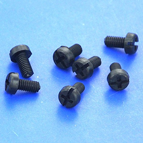 Electronics-Salon 1000pcs m3 x 6 mm à vis en nylon noir.