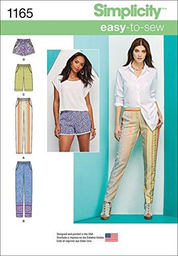 Simplicity 1165Größe H56/8/10/12/35,6cm Schnittmuster Hosen Lange oder Kurze Shorts Schnittmuster