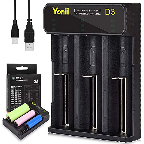 Batterie ladegerät, Akku Batterieladegerät Universal Ladestation LCD-Display SIMILKY 3 Schacht Plug für Li-Ion IMR NI-MH NI-Cd AAAA AAA AA Batterien Akku