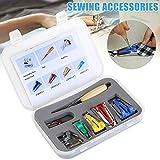 Kit de herramientas para máquina de coser en forma de S, para tejer, encuadernación de agujas, trabajos de costura para manualidades, costura y acolchado.