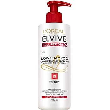 LOreal Paris Elvive Low Shampoo Champú, sin sulfatos, para pelo ...